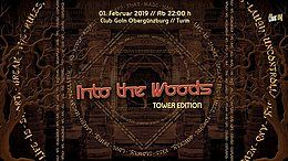 """Party Flyer Into the Woods """"Tower Edition"""" 1 Feb '19, 22:00"""