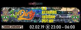 Party Flyer New Clear pres. LsDirty / S.K / Ketarius / Insidah / Psy Jay 2 Feb '19, 23:00