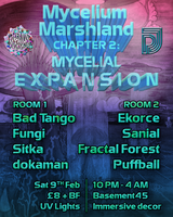 Party Flyer Mycelium Marshland - Mycelial Expansion 9 Feb '19, 22:00