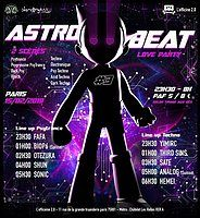 Party Flyer ASTRO BEAT #3 | Love party - Psytrance et Techno 15 Feb '19, 23:30