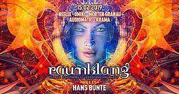 Party Flyer Raumklang meets Hans Bunte with Neelix, Omiki, Morten Granau 15 Feb '19, 22:00