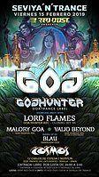 Party Flyer Sevilla 'n' Trance @Sala Cosmos / Goa Hunter Label Night / 15/02/19 15 Feb '19, 22:00