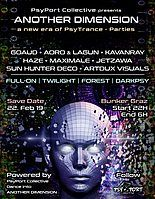 Party Flyer ANOTHER DIMENSION - PsyPortCollective 22. Feb. 19, 22:00