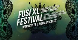 Party Flyer FUSI ॐ XL: Tommy Libera / Chorea Lux / Tekknomatikker uvm. 22 Feb '19, 22:00