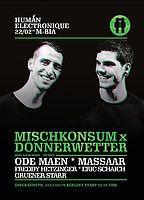 Party Flyer Human Electronique präs. Mischkonsum meets Donnerwetter 22 Feb '19, 23:30