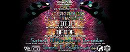 Party Flyer Divine Magic Theory: Underground Experiments ۞ 23 Feb '19, 22:30