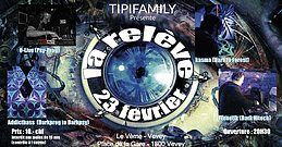 Party Flyer LA RELEVE TIPIFAMILLY + After 23 Feb '19, 20:00