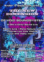 Party Flyer Ander´s Gestrickt pres. The New Dimension of Sound ( Void Sound System ) 1 Mar '19, 21:00