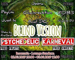 Party Flyer Blind Vision Psychedelic Karneval 2 Mar '19, 20:00