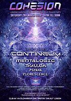 Party Flyer Cohesion PsyTrance Adventure 2 Mar '19, 23:00