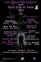 Party Flyer The D1srupt1on Ag3nts present - Dark Side of Town 2 Mar '19, 16:00