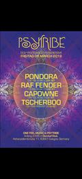 Party Flyer Psytribe mit Pondora 8 Mar '19, 23:00