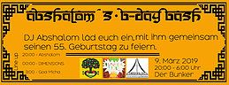 Party Flyer Abshalom´s B-Day Bash 9 Mar '19, 20:00