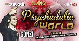 Party Flyer Psychedelic World / Gonzi Live 9 Mar '19, 23:00