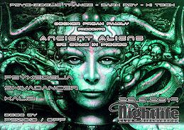 Party Flyer Ancient Aliens - We come in pieces 23 Mar '19, 22:00