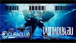 Party Flyer Dunkelblau Techno 6 Apr '19, 22:30