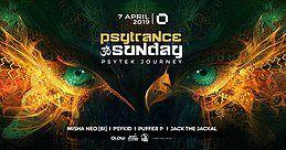 Party Flyer PsyTrance ॐ Sunday at GLOW I Psytek Journey 7 Apr '19, 21:30