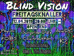 Party Flyer Blind Vision Freitagsknaller 12 Apr '19, 20:00