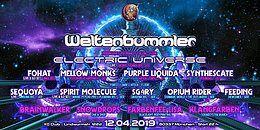 Party Flyer Weltenbummler pres. ELECTRIC UNIVERSE uvm. 12 Apr '19, 21:00