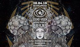 Party Flyer Sound&Vision Spring Warm Up with HIGHKO ALPHA BIOMEKANIK 20 Apr '19, 23:00