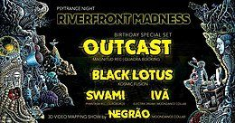 Party Flyer Ouroboros Creations apresenta Riverfront Madness !!!!!! 3 May '19, 23:00