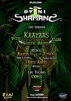 Party Flyer OVNI Shamans ☼ Bucharest ☼ Kaayaas [Live] 4 May '19, 22:00