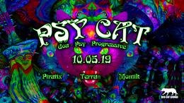 Party Flyer Psy Cat - Piratix / Terraπ / momik 10 May '19, 23:00