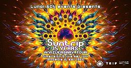 Party Flyer 15 years of Suntrip w/ Dimension 5 & DJ Anoebis / Budapest (HUN) 11 May '19, 22:00