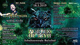 Party Flyer Vortex of Psy 2 /w Lunatica 18 May '19, 22:00