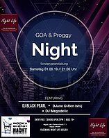 Party Flyer Goa & Proggy Night 3Dj´s im Night Life 1 Jun '19, 21:00