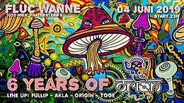 Party Flyer 6 JAHRE ORION GOA CLUB 4 Jun '19, 23:00