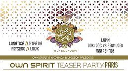 Party Flyer Own Spirit Warehouse teaser Party in Paris 8 Jun '19, 23:00