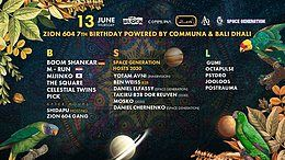 Party Flyer Communa & Bali Dhali prs: Zion 604 7th BDAY party 13 Jun '19, 23:30