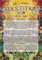 Party Flyer Solstitium 13 Jun '19, 18:00