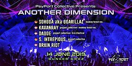 Party Flyer Another Dimension III by PsyPort Collective 14 Jun '19, 22:00