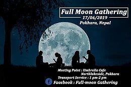 Party Flyer Full-moon Gathering 17 Jun '19, 01:00