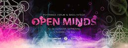 Party Flyer OPEN MINDS • In- and Outdoor Gathering • by AUM & Low-Cut 21 Jun '19, 20:00