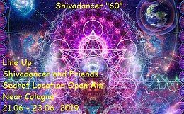 Party Flyer Shivadancer becomes 60 21 Jun '19, 22:00