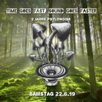Party Flyer Time Goes Fast, Sound Goes Faster (2 Jahre PsyloNoise) 22 Jun '19, 22:00