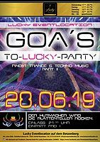 Party Flyer GOA´s-to-Lucky Part II 28 Jun '19, 21:00