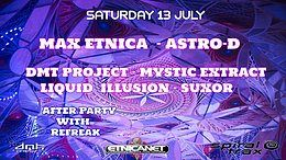 Party Flyer Etnica/Pleiadians/Astro-D One Night in Albania-Back to the 90s 13 Jul '19, 19:00