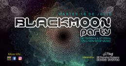Party Flyer blackmoon party ( at el parche rutero hostel ) 16 Jul '19, 19:00