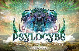 Party Flyer Psylocybe 2019 - Spiritual Experience Open Air Gathering 20 Jul '19, 18:00