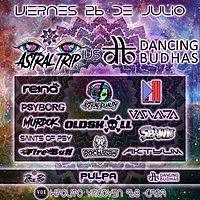 Party Flyer Dancing Budhas Vs Astral trip 26 Jul '19, 23:30