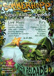 Party Flyer Sommerhopp Festival green reloaded 26 Jul '19, 16:00