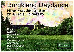 Party Flyer Burgklang Daydance 27 Jul '19, 10:00