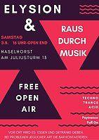 Party Flyer Raus durch Musik - umsonst&draußen 3 Aug '19, 16:00