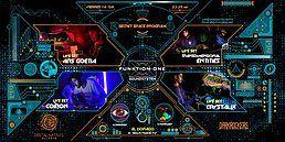 Party Flyer Secret Space Program / Funktion-One / DNR+Darkrockers (Darkpsy/Hitech) 16 Aug '19, 23:30