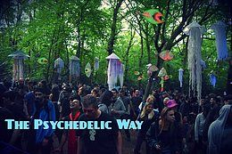 Party Flyer The Psychedelic Way Free Forest Party 17 Aug '19, 23:00