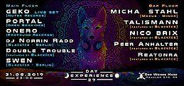 Party Flyer Day Experience 27 w Geko, Portal, Onero, Talismann, Micha Stahl uvm 31 Aug '19, 23:00